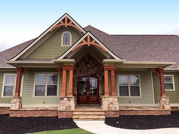 Top-Of-The-Line Craftsman House Plan - 24364TW | Craftsman, Mountain, Northwest, Luxury, Photo Gallery, Premium Collection, 1st Floor Master Suite, Butler Walk-in Pantry, CAD Available, Den-Office-Library-Study, In-Law Suite, Media-Game-Home Theater, PDF, Sloping Lot | Architectural Designs