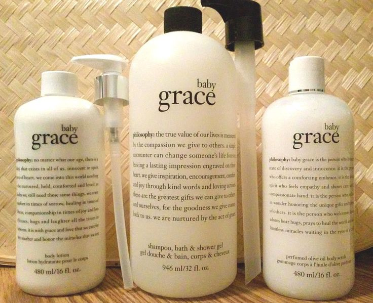 Mixed Items: Philosophy Baby Grace Shampoo Shower Gel Olive Oil Scrub And Body Lotion Set BUY IT NOW ONLY: $69.5