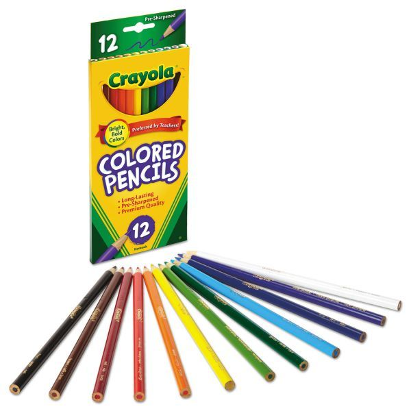 Crayola Long Length Colored Pencil Set 3 3 Mm 2b 1 Assorted