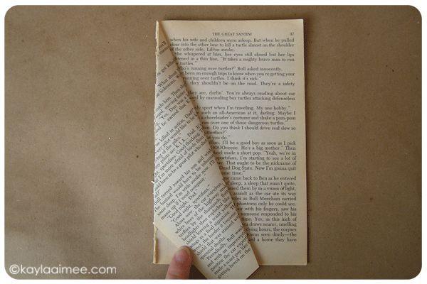 Paperback Christmas Tree Tutorial Step 9a