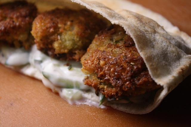 The 99 Cent Chef: Falafel Pita Sandwich
