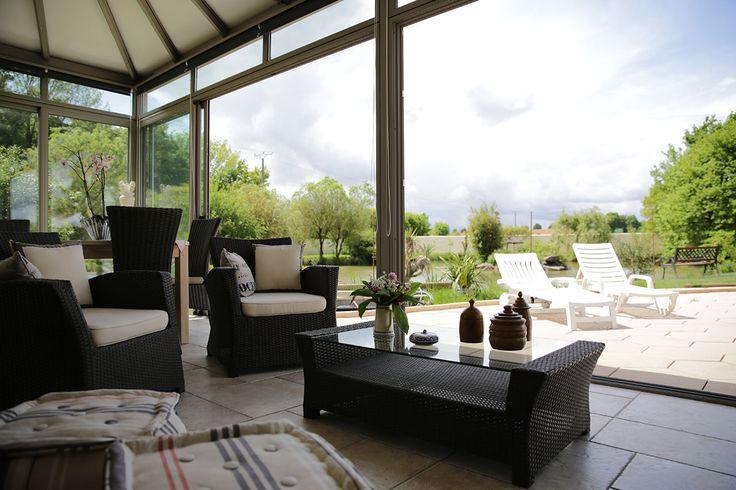 #veranda #conceptalu gamme #ARMONIA - #salon #jardin