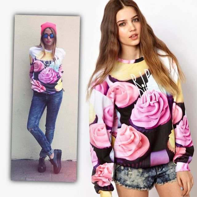 2015 New Fashion Women Colorful Flower Rip Diet Printed 3D Autumn Clothes Casual and Sport Sweater and Pullover T shirts US $195.32 /lot (10 pieces/lot) Specifics Item Type 	Tops Tops Type 	Tees Gender 	Women Decoration 	None Clothing Length 	Regular Sleeve Style 	Regular Pattern Type 	Floral Style 	Casual Fabric Type 	Jersey Material 	Polyester Collar 	O-Neck Color Style 	Contrast Color Sleeve Length 	Full Model Number 	07250055   Click to Buy :http://goo.gl/t9O329