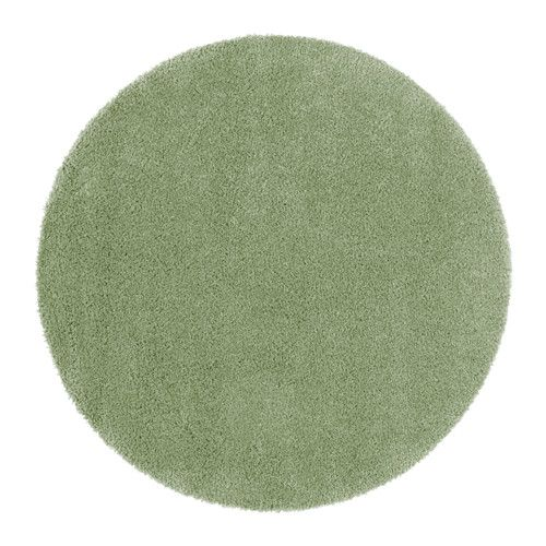ÅDUM Matta, lång lugg, ljusgrön ljusgrön 130 cm