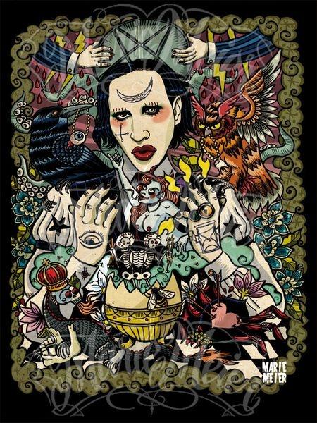 Marilyn Manson Portrait, made by Marie Meier