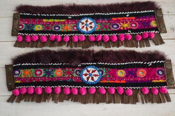 Image of cubrebotas ethnic , colección dreams fucsia tribal