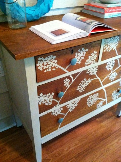 Handpainted Dresser Vintage Solid Wood  Painted by LynorByJessica, $325.00