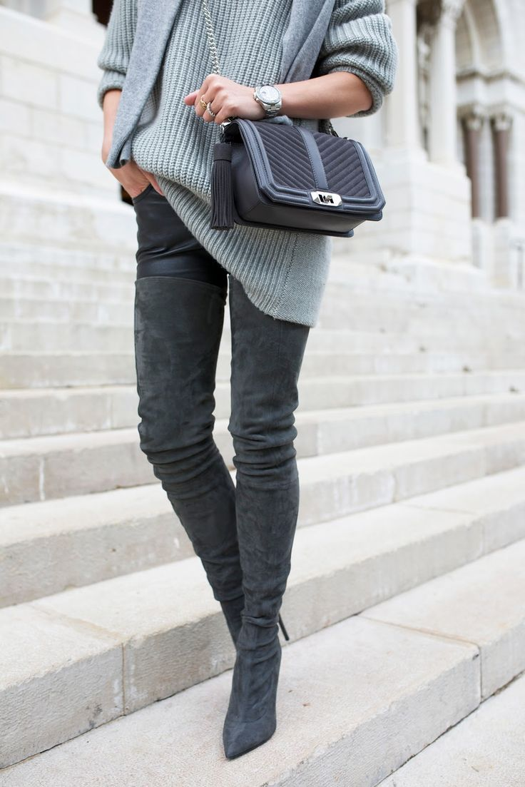 """justthedesign: """" Thigh high boots are edgy and alternative; the perfect way  to add flare to your every day look. This pair of suede style boots are  worn ..."""