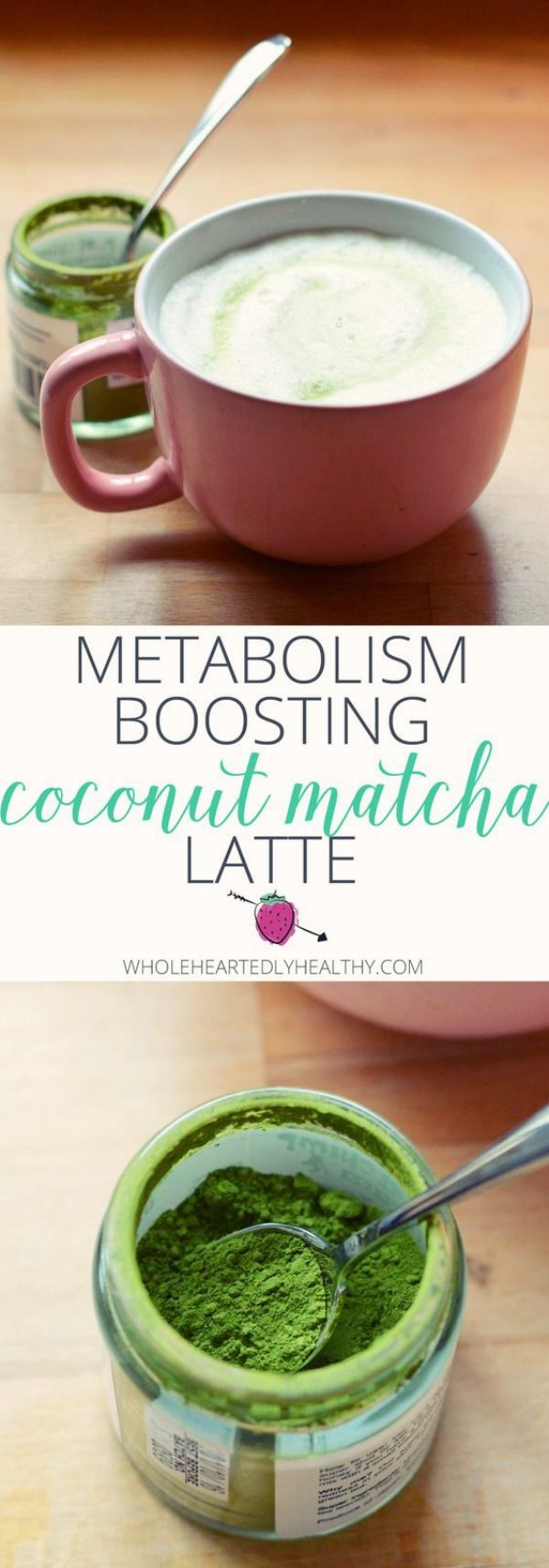 Metabolism Boosting Coconut Matcha Latte | In this recipe, I combine matcha with another powerhouse superfood coconut oil. Coconut oil is another metabolism boosting food full of medium chain fatty acids which are used by the body in a different way to other fats. Combined, they create a delicious metabolism boosting drink with a light caffeine kick.  via: @lauraagarwilson