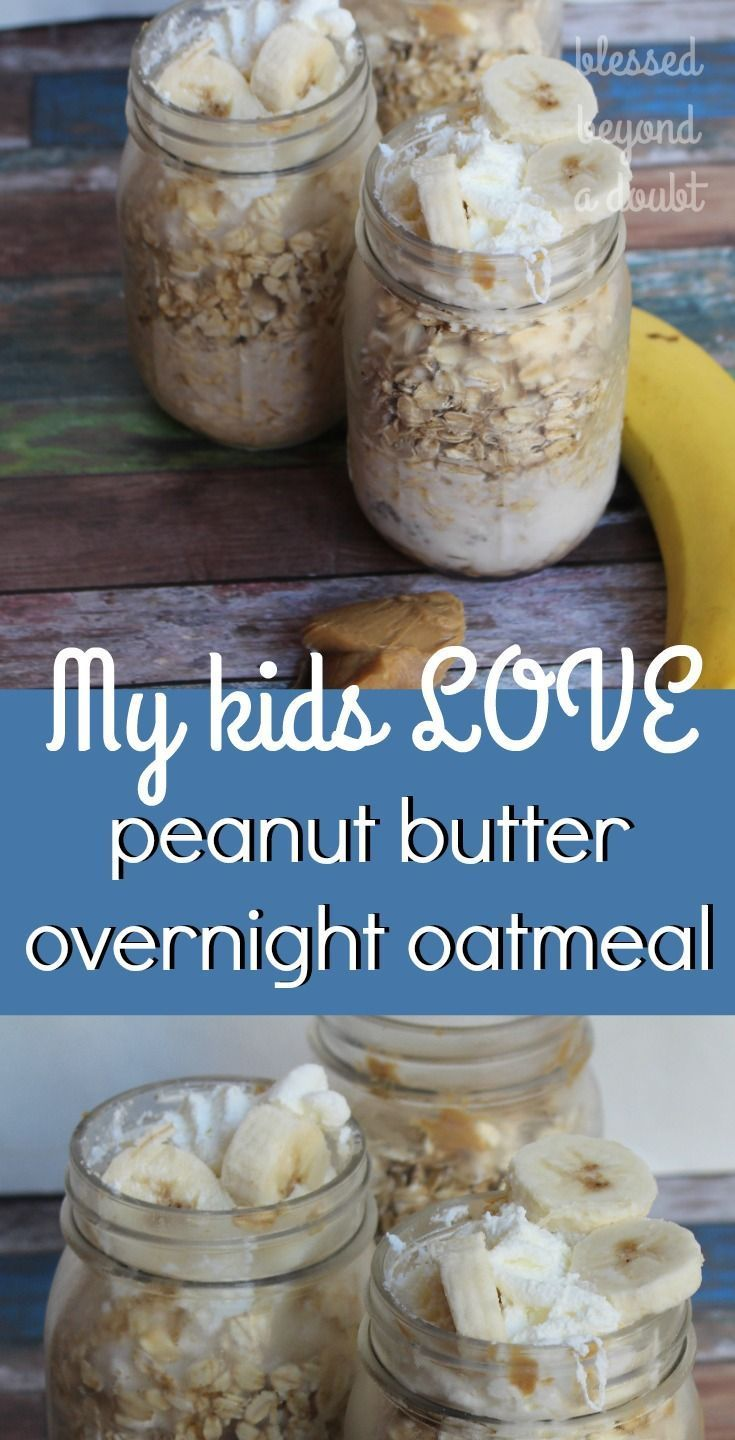 This easy peanut butter overnight oatmeal recipe is so hearty. Simply prepare it the night before in minutes. Enjoy a filling breakfast.