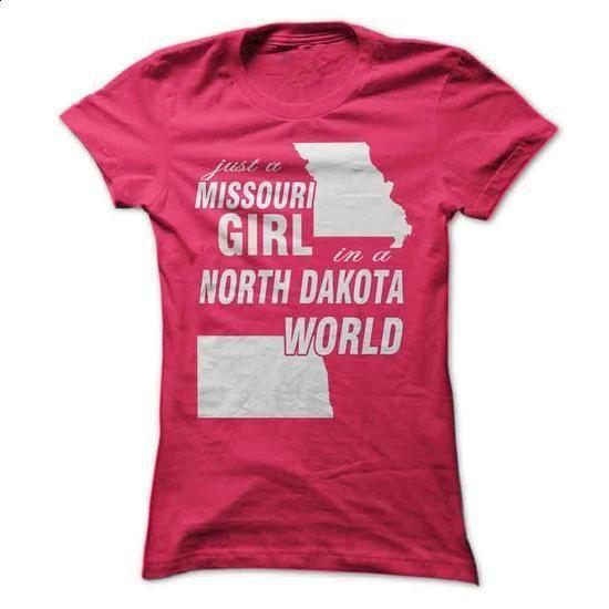 Missouri Girl in North Dakota - custom made shirts #shirt ideas #hoodie with…