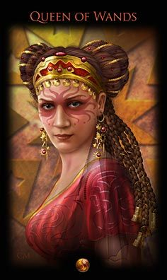 'Queen of Wands' Legacy of the Divine Tarot by Ciro Marchetti