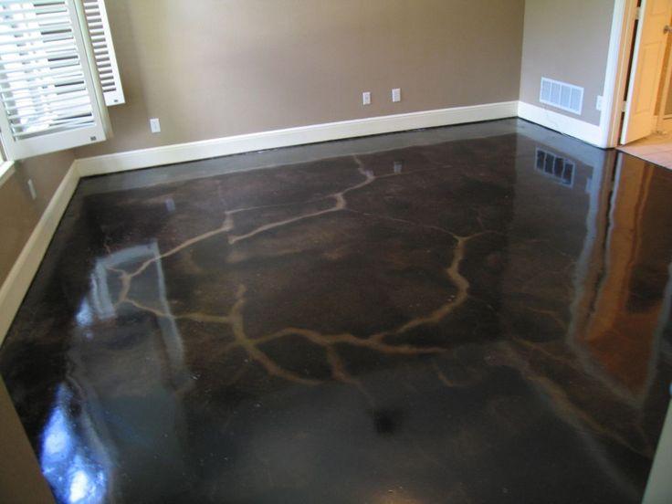 dark stained concrete floor Concrete Dallas Fort Worth