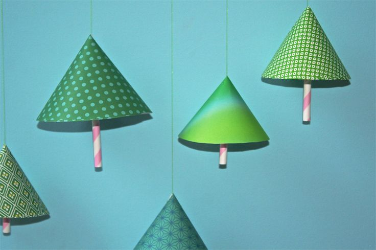 papieren kerstbomen om zelf te maken