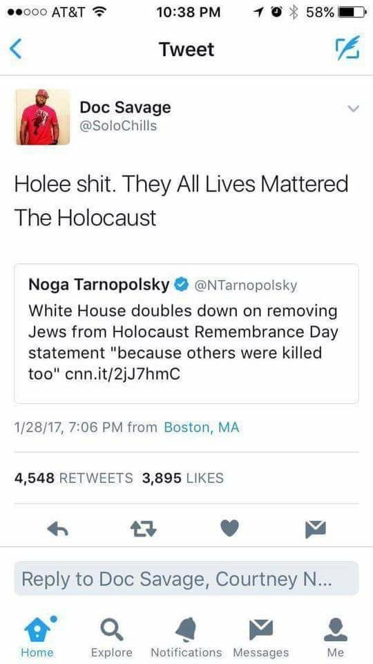 Jews were by and large the main victims of the holocaust. of course others were targeted too: (homosexuals, disabled and mentally ill people, etc.) but we don't need to remove Jews from history to talk about the horrors those other groups faced. That's erasure, pure and simple.