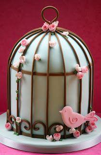 lauralovescakes...: Vintage Bird Cage Cake