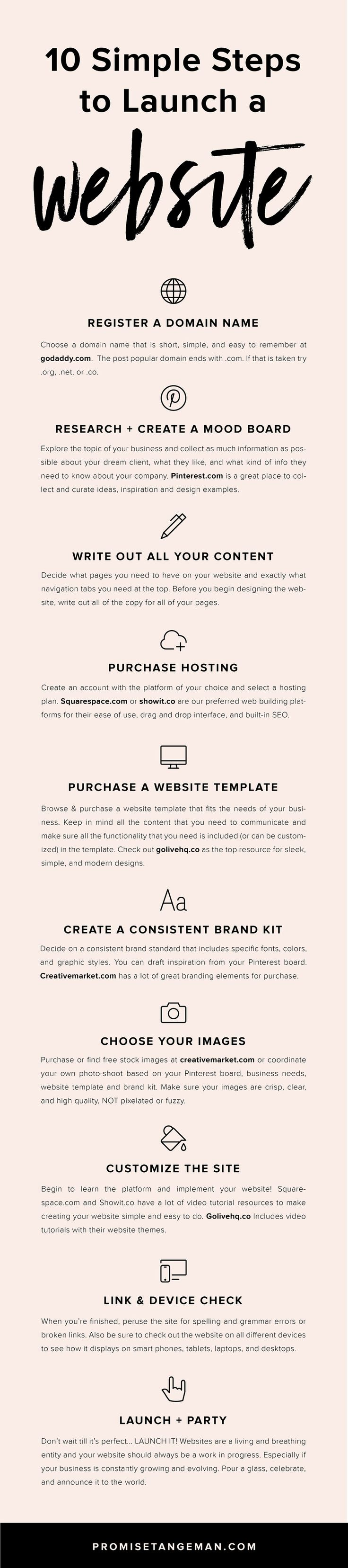 10 steps to launch a website