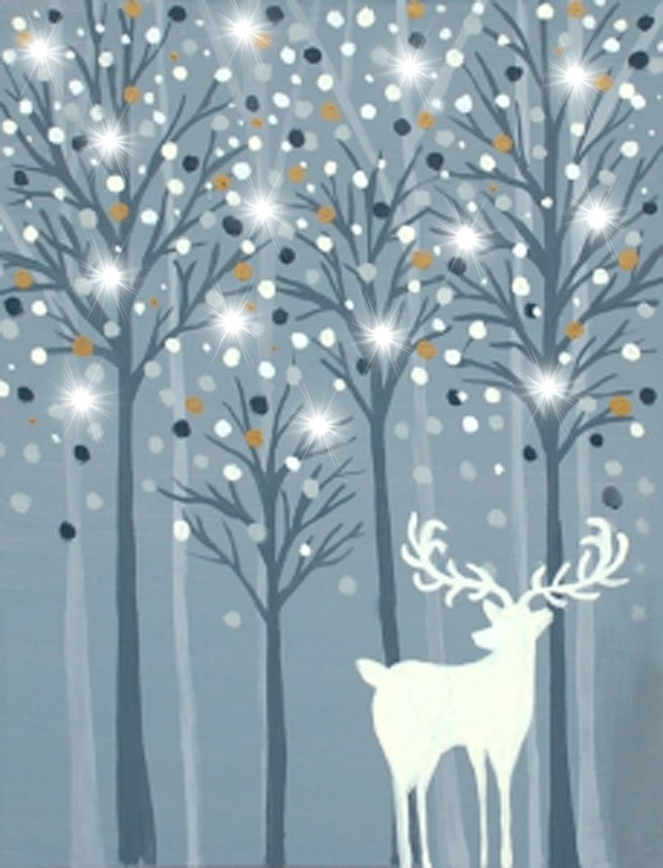 PINOT'S PALETTE. ALAMEDA. PAINT. DRINK. HAVE FUN. Paint Wishful Snowfall ~ Special Illuminated Painting Friday Nov. 20 at 7pm