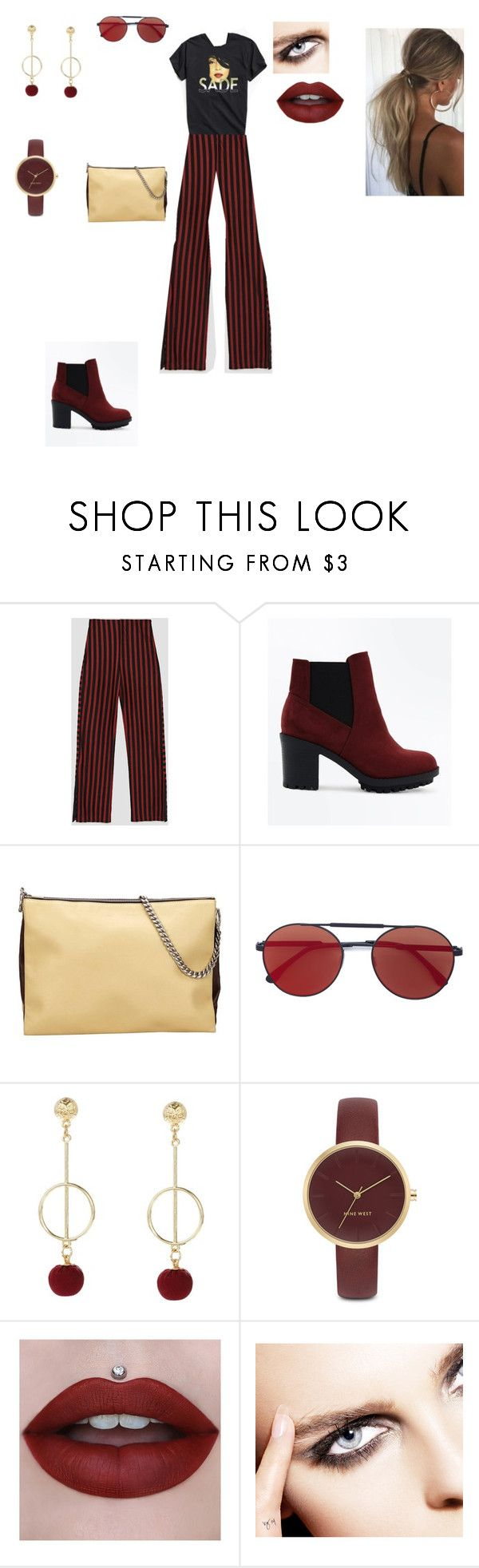 """chic outfit"" by helena94-1 on Polyvore featuring Urban Outfitters, New Look, CÉLINE, Vera Wang, Nine West and polyvorefashion"