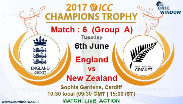 ICC Champions Trophy Eng vs NZ Live Video Stream http://www.cricwindow.com/cricket-live-match-video.html