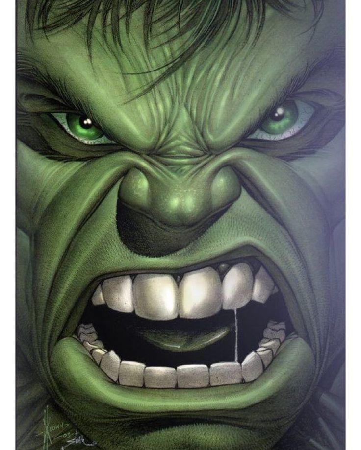 You made him angry 😳 #hulk #marvel