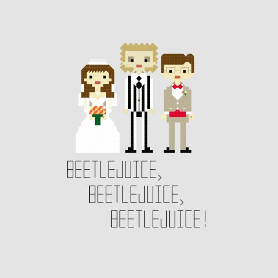 Beetle Juice Cross Stitch Pattern by YouMakeMeSewHappy on Etsy, $3.99
