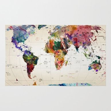 Rug featuring Map by Mark Ashkenazi