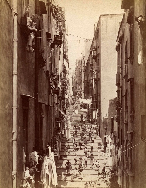 Pallonetto street, Naples Italy by Giacomo Brogi 1867