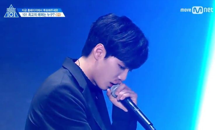 """{Kim Jonghyun's rap} Honestly I was really scared. This place was scary. Closing my two eyes with this big burden. Bearing this hateful comments on """"this debut kid coming here"""" People pointing fingers calling out """"unfairness/cheating."""" I know that... I'm going crazy. For me this is also my last. The burden is getting bigger, but.. Even if it's getting difficult. Thinking about people who believe in me, I will cross the opposite direction in the one way road. Don't worry. ~cr to translator"""