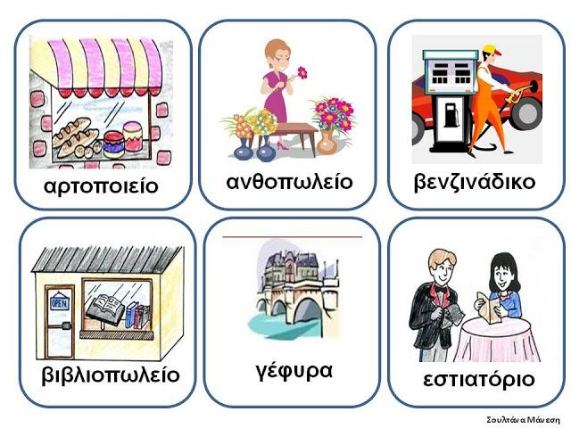Δραστηριότητες, παιδαγωγικό και εποπτικό υλικό για το Νηπιαγωγείο: Πίνακας Αναφοράς για την γειτονιά (1)