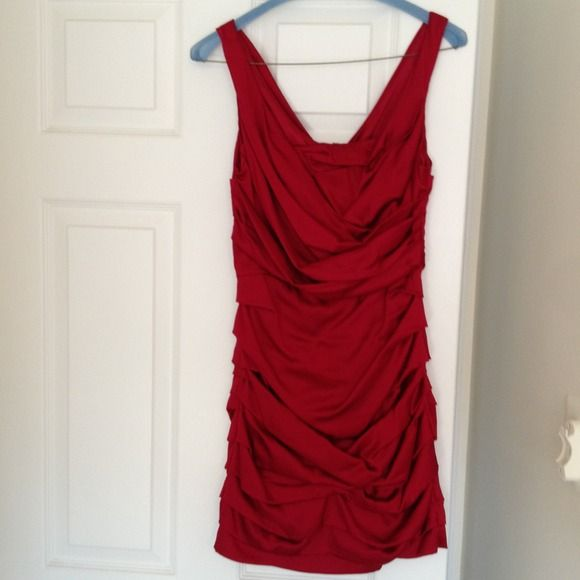 Express size 0 red dress!!! Hot red dress!!! Head turner for sure! Worn once to Christmas party. Fresh from dry cleaners with tags! Express Dresses