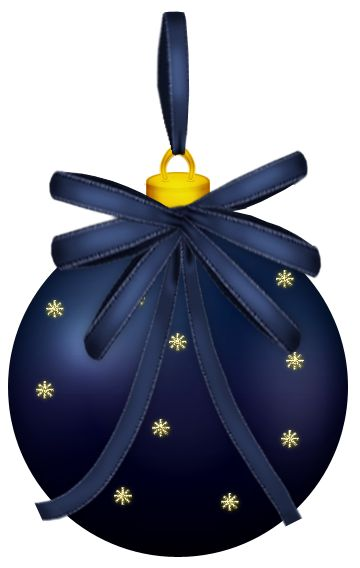 Dark Blue Christmas Ball PNG Clipart Picture