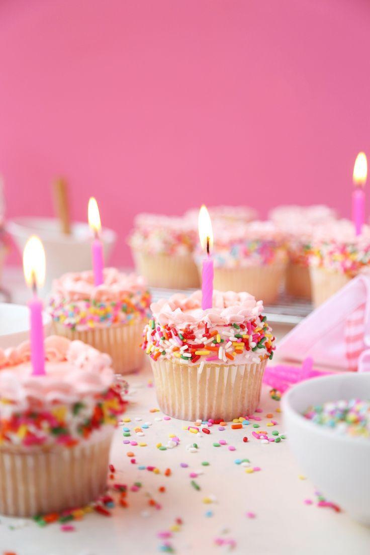 Vanilla Birthday Sprinkle Cupcakes - The Candid Appetite