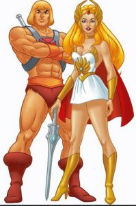 Famous people who would get kicked out of planet fitness unless they changed their clothes....He-man & She-ra=Lunk alarm!