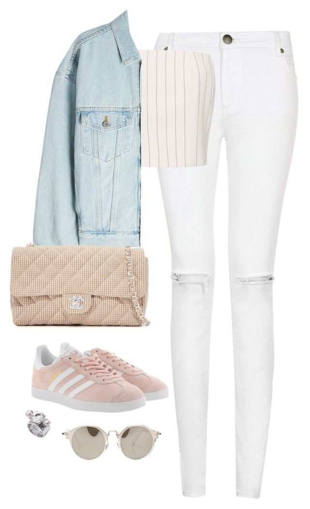 """""""Untitled #4590"""" by magsmccray on Polyvore featuring Thierry Mugler, Yeezy by Kanye West, adidas Originals and Miu Miu"""