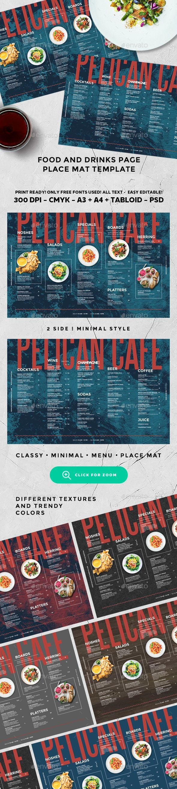Cafe Menu Food. Creative food menu templates for your restaurant business.  More #food #menu for your #brand you can download here ➝ https://graphicriver.net/category/print-templates/food-menus?ref=Marchiez