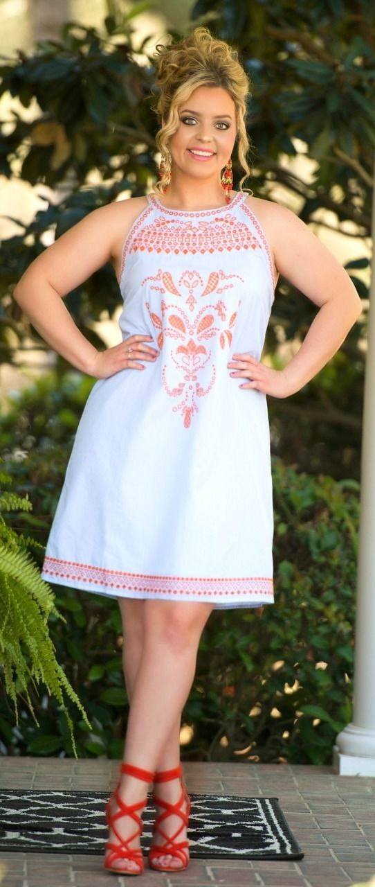 Southern Sophisticate Dress - White & Blue - Perfectly Priscilla Boutique