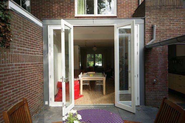 25 beste idee n over vouwdeuren op pinterest binnenpandse veranda accordeondeuren en binnen - Idee huis uitbreiding ...