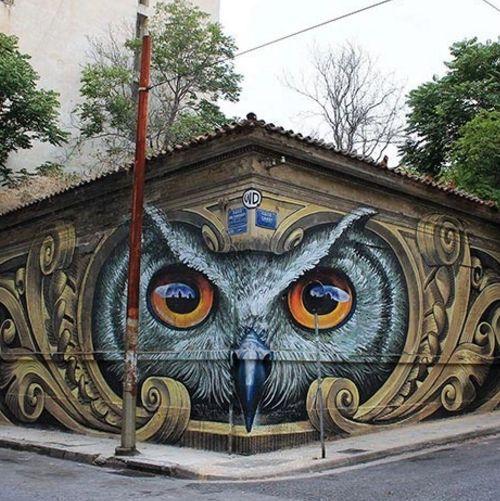 Дома до и после того, как над ними поработали уличные художники