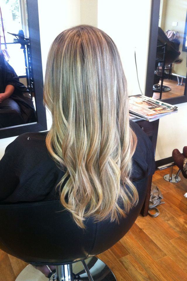 Whole Head Of Caramel And Light Ash Blonde Foils With