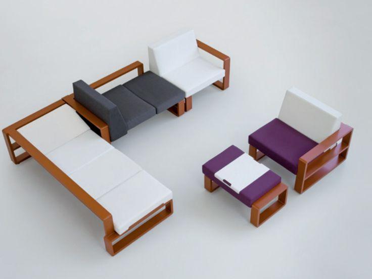 Modular garden sofa Kama Collection by EGO Paris | design Thomas Sauvage, Benjamin Ferriol