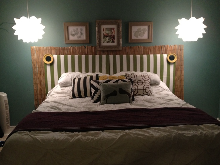 Fun Headboard Created For Under $50! Itu0027s Base Is Old Diaper Boxes Opened N  Taoed