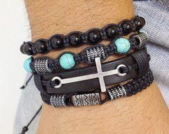 Masculine macrame bracelets.  For men.