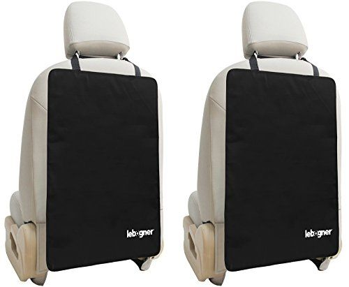 Car Seat Back Protectors By Lebogner  Luxury Kick Mat Seat Covers For The Back Of Your Front Seats 2 Pack XLarge Auto Back Seat Protector Covers Perfect Backseat Child Kick Guard Seat Saver *** Want additional info? Click on the image.