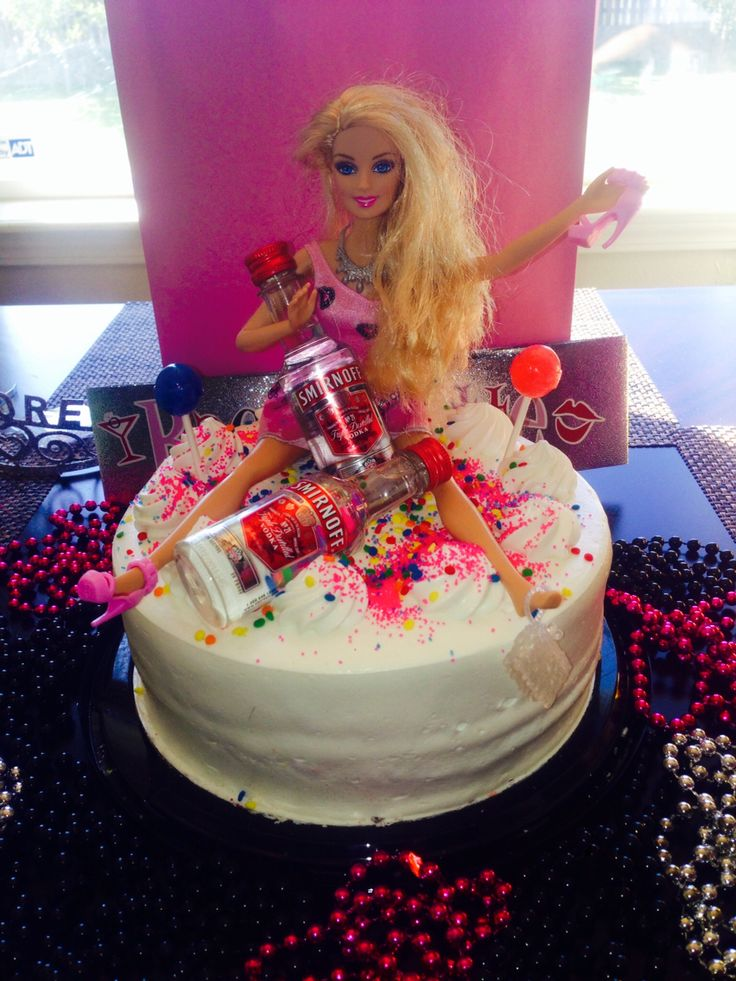 Bachelorette Drunk Barbie Cake!!
