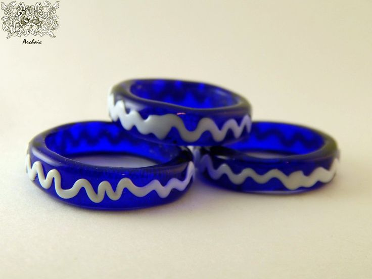 Glass rings from Vladimir, 13 A.D. Import from Bizantium