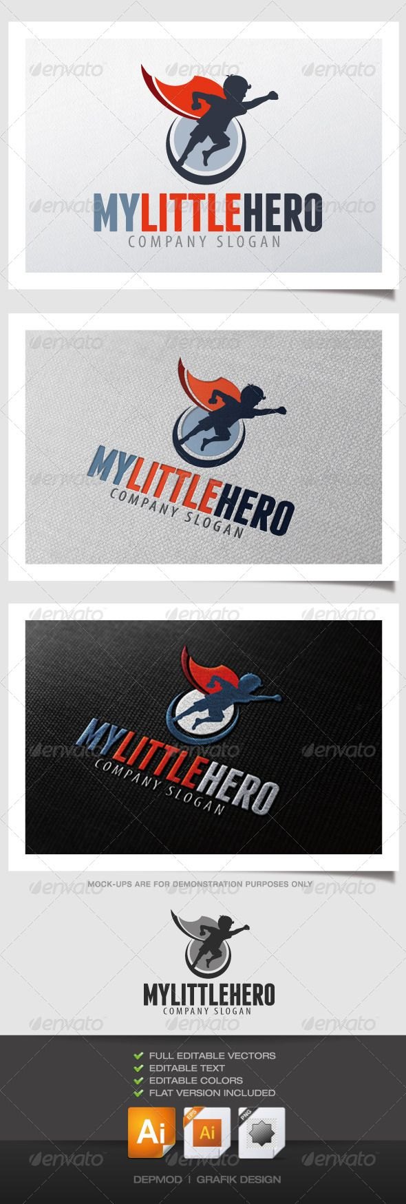 My Little Hero	 Logo Design Template Vector #logotype Download it here: http://graphicriver.net/item/my-little-hero-logo/4263157?s_rank=446?ref=nexion