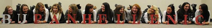 Panhellenic Council! Cute idea for a picture with the whole group.