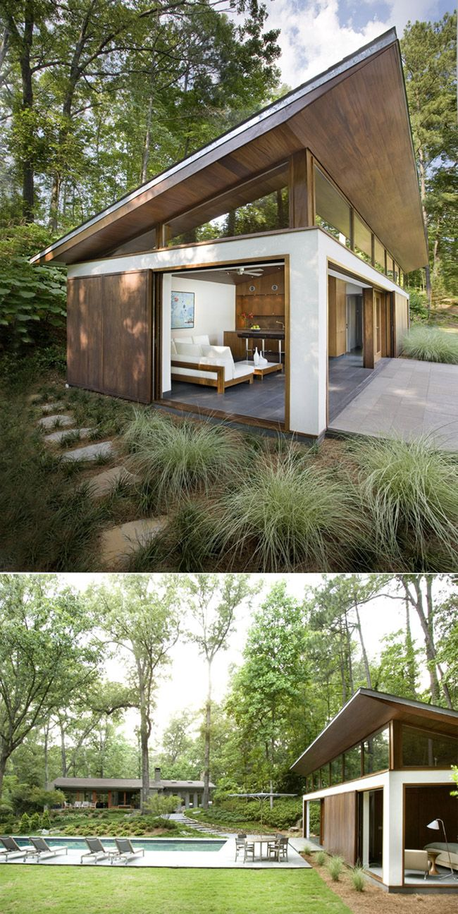 Pool / guest house by philip babb skillion roof