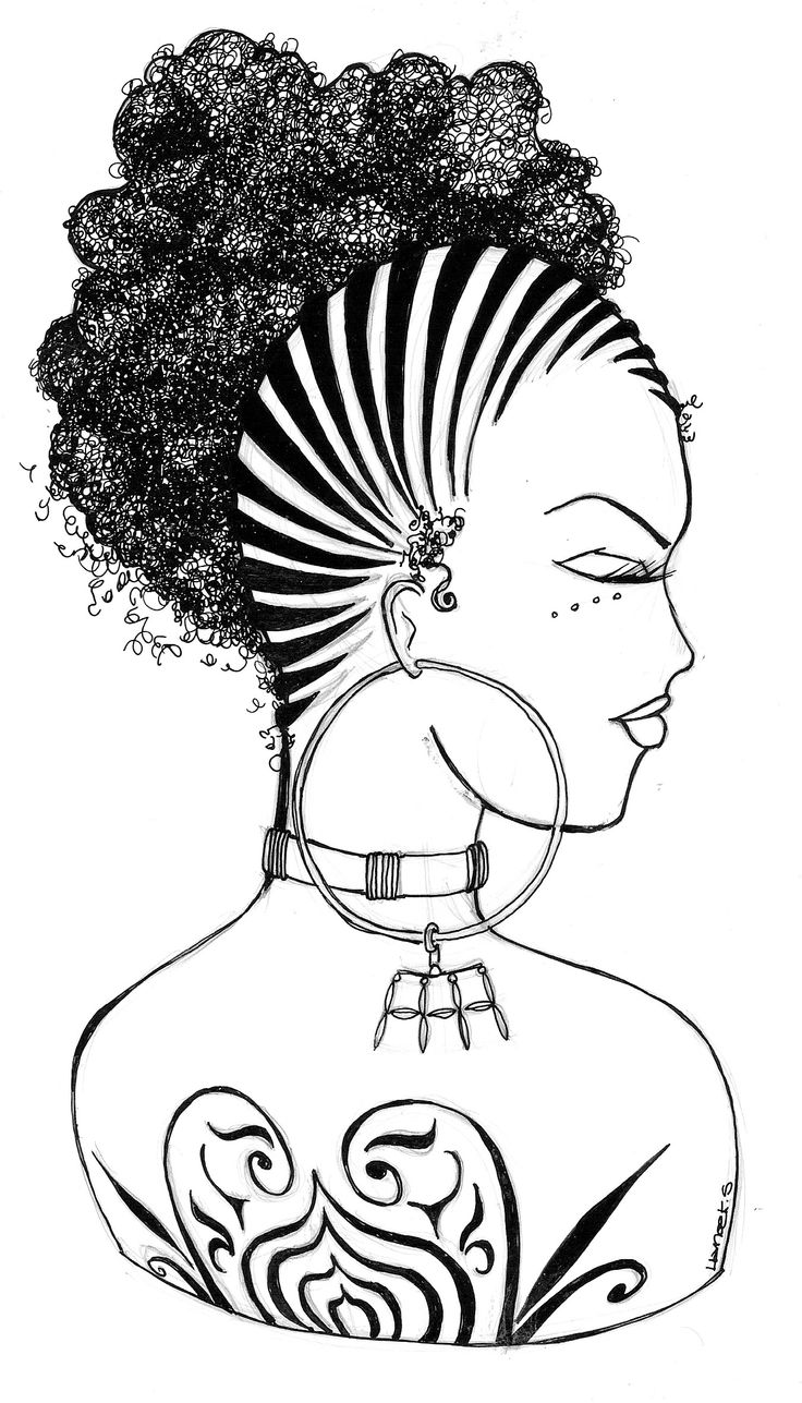 unwashed hair for coloring pages - photo#19